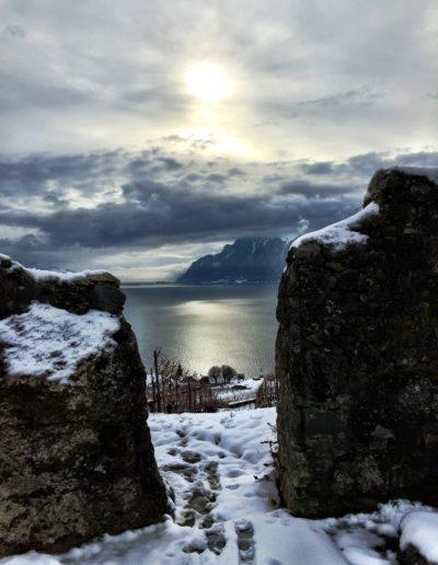 Mur Blanc en hiver, Chexbres